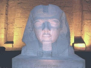 Image of Rameses in Luxor Temple Egypt photograph by Colette Dowell
