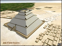 Jean-Pierre Houdin Great Pyramid NW Model Internal Ramp Graphic
